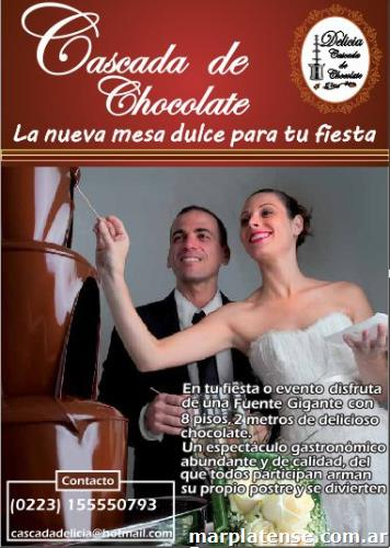 Cascada delicia alquiler cascada de chocolate gigante en for Banar en plata precio