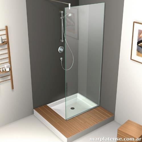 Mamparas box cerramientos en cristal de seguridad para for Mamparas de vidrio templado para banos